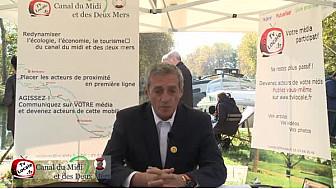 Philippe SAUREL tête de liste 'Citoyens du Midi' aux Elections Régionales 2015 Midi-Pyrénées/Languedoc-Roussillon parle du Canal du Midi @saurel2014 @MidiCitoyens  #TvLocale_fr