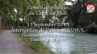Canal du Midi : Intervention de Valérie PIGANIOL #ToulouseaufildelO au Comité de Pilotage à Ayguesvives