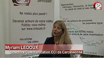 #CanalduMidi, Entretien avec Myriam LEDOUX de la CCI de Carcassonne @CCI_CLC #TvLocale_fr